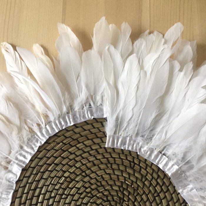 juju hat diy tour de plumes coiffe plumes deco boheme ruban