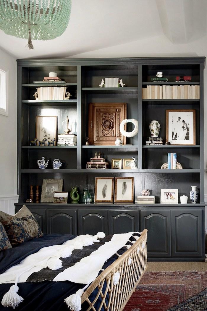 maison californienne bois meubles chambre objets vintage original