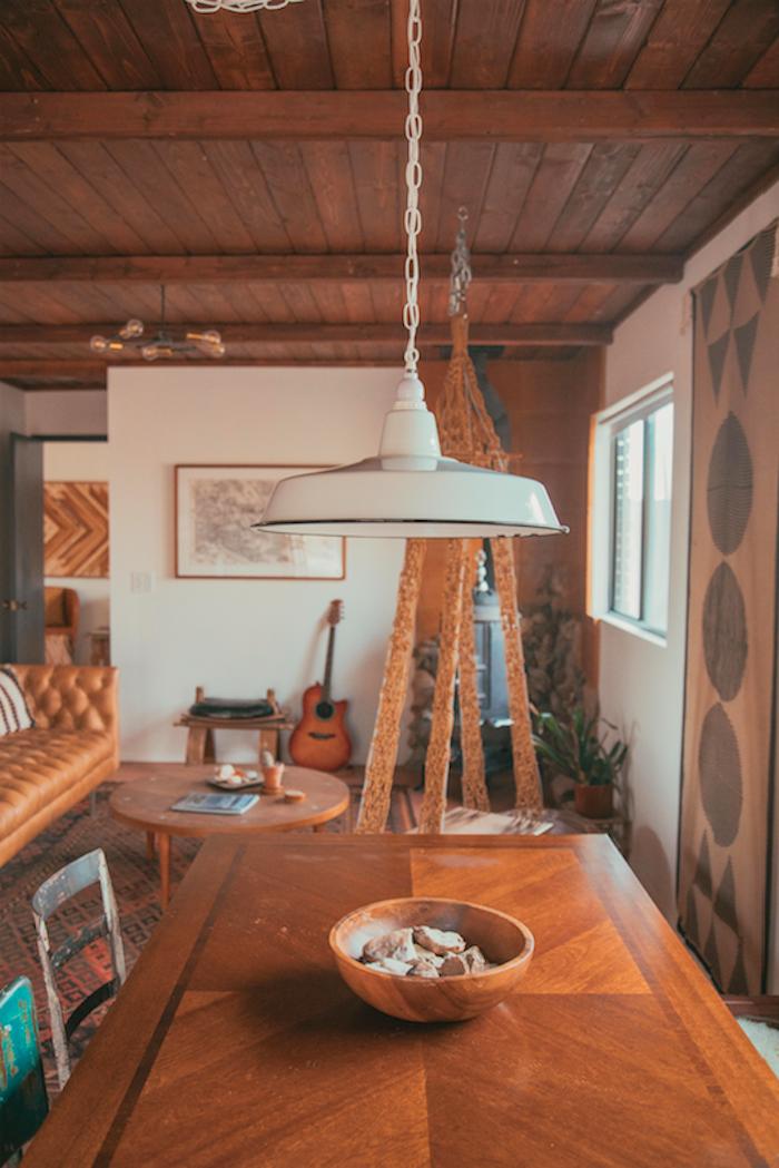 maison californienne table manger salon folk vintage
