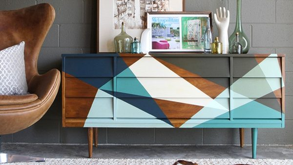 repeindre buffet diy scandinave peint idee inspiration deco blog