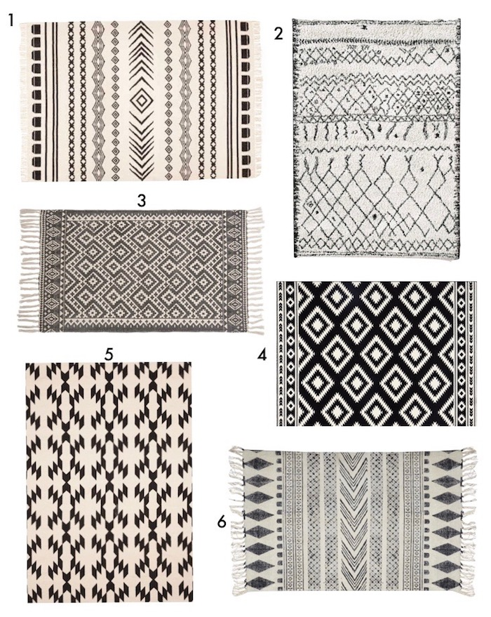 tapis berber deco ethnique blog deco design blanc noir creme motifs aztheque danois hygge decoration