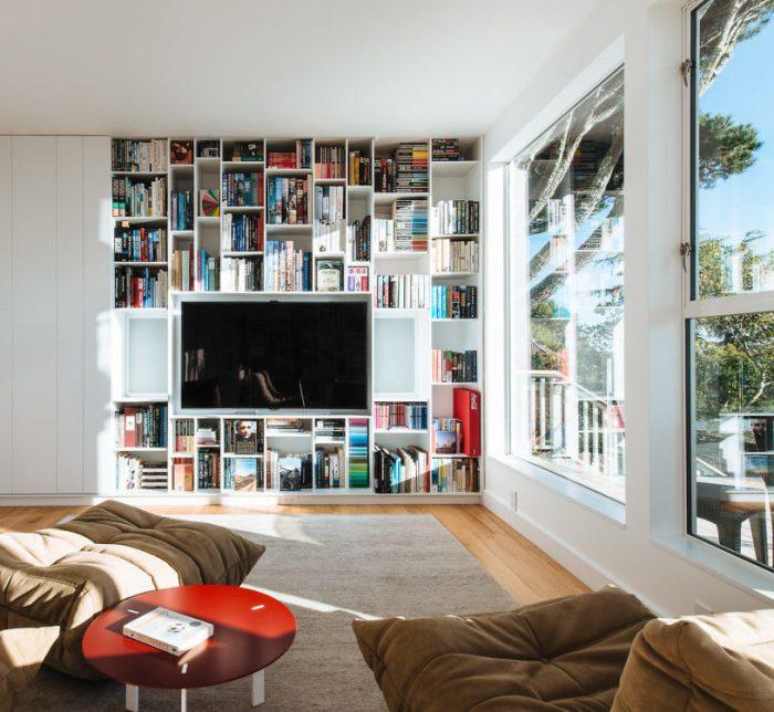 villa californienne salon espace television