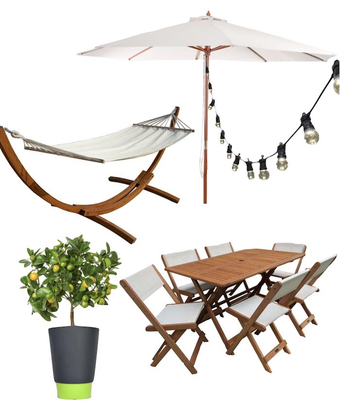 terrasse et jardin guinguette table guirlande cosy bucolique blog deco design