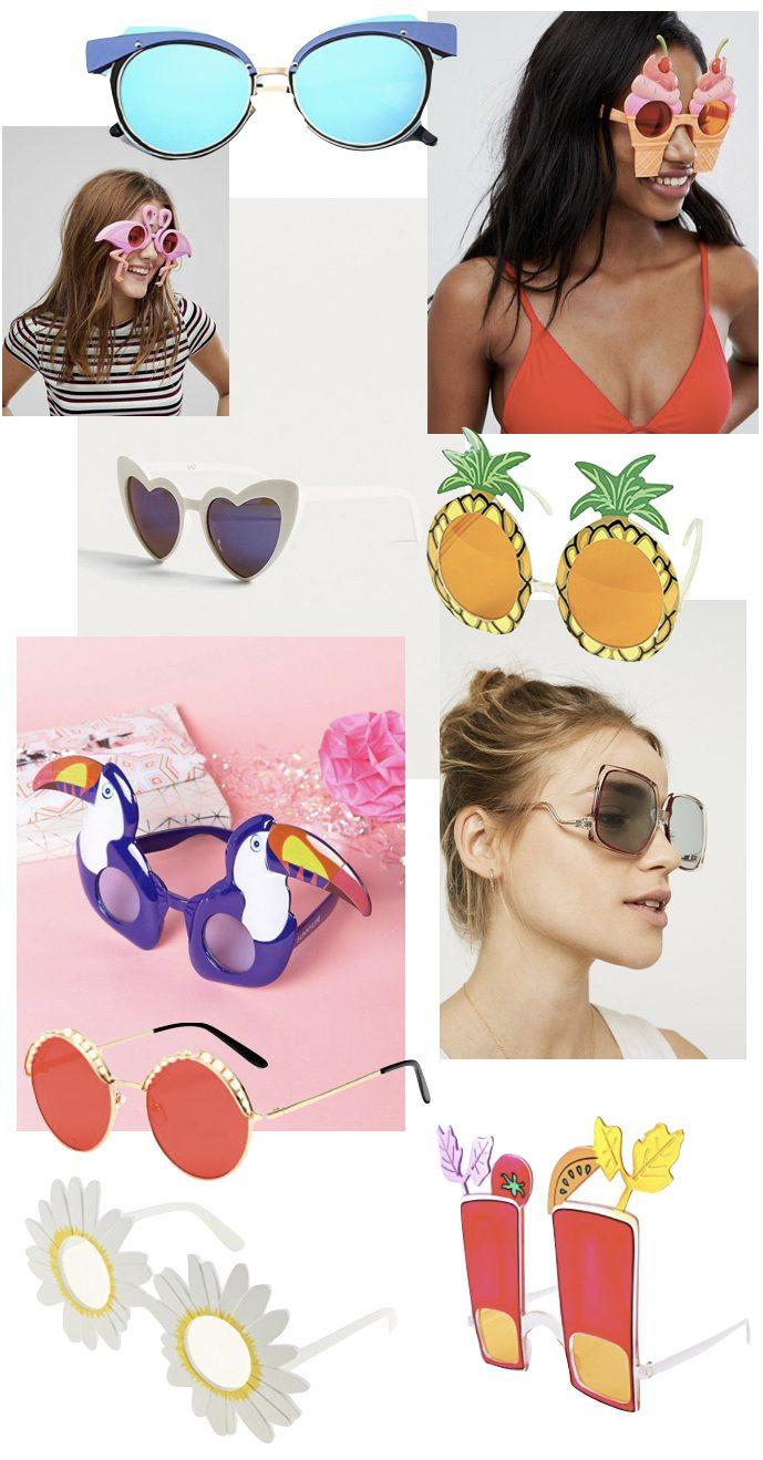 lunettes de soleil original toucan pool party soleil flamant rose ananas