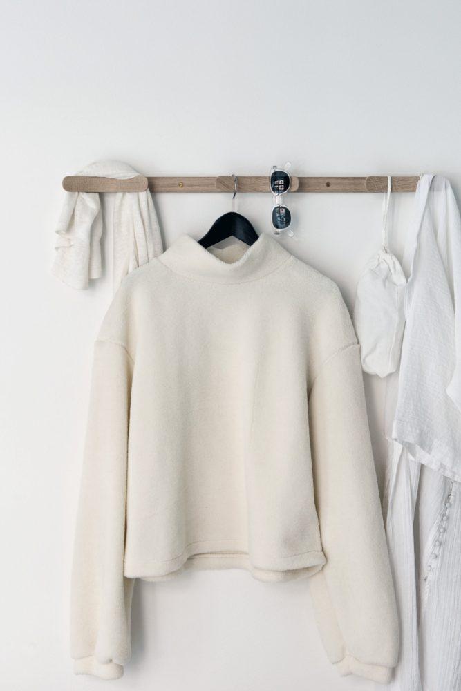 penderie suspendue minimaliste en bois blog decoration interieure