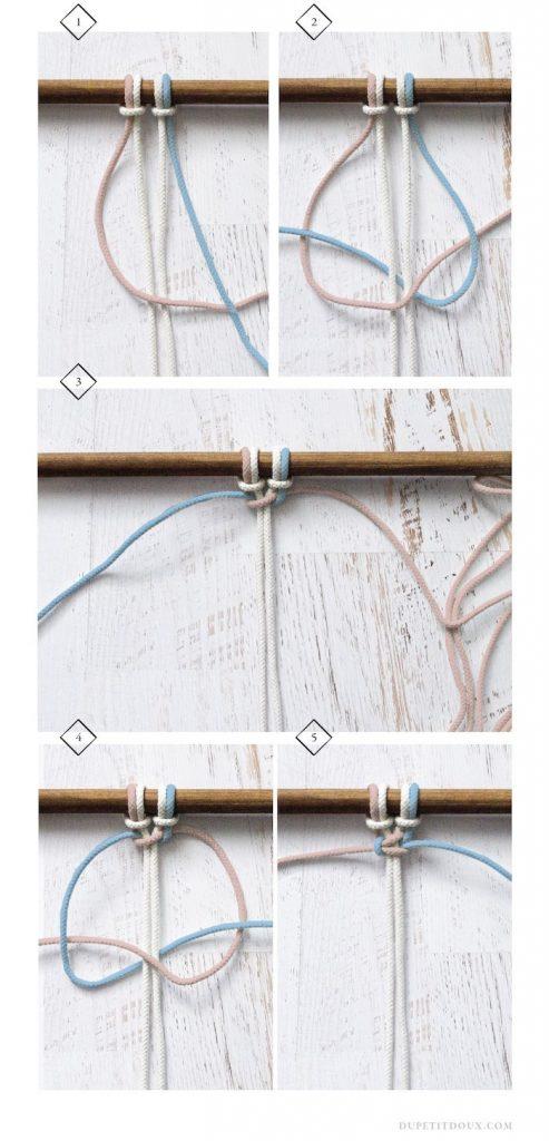schéma decoration mur en noeuds corde - blog déco - clem around the corner