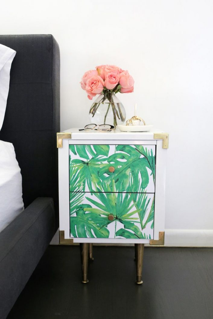 comment transformer meuble ikea hack tendance tropicale art deco