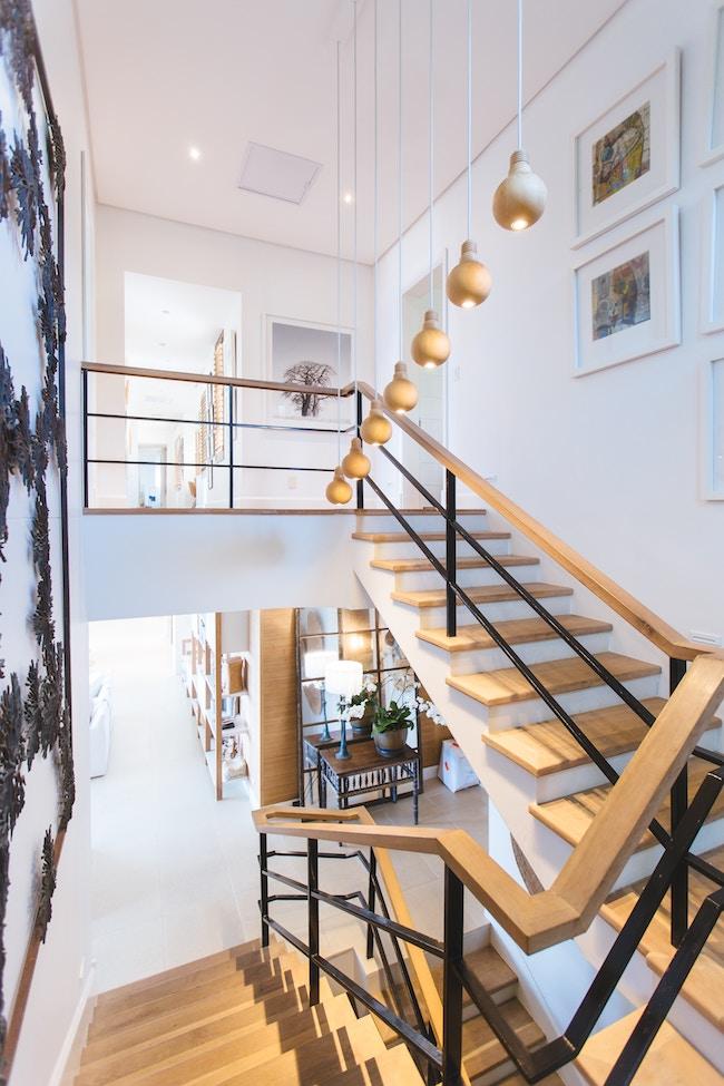 escalier loft bois et métal Concours 12 jours 1 maison - blog déco clem around the corner