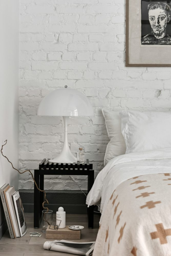 blog decoration hipster new yorkais chambre blanche Panthella poulson