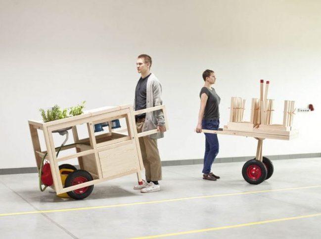 cuisine mobile hospitality bois design demenageable pop-up