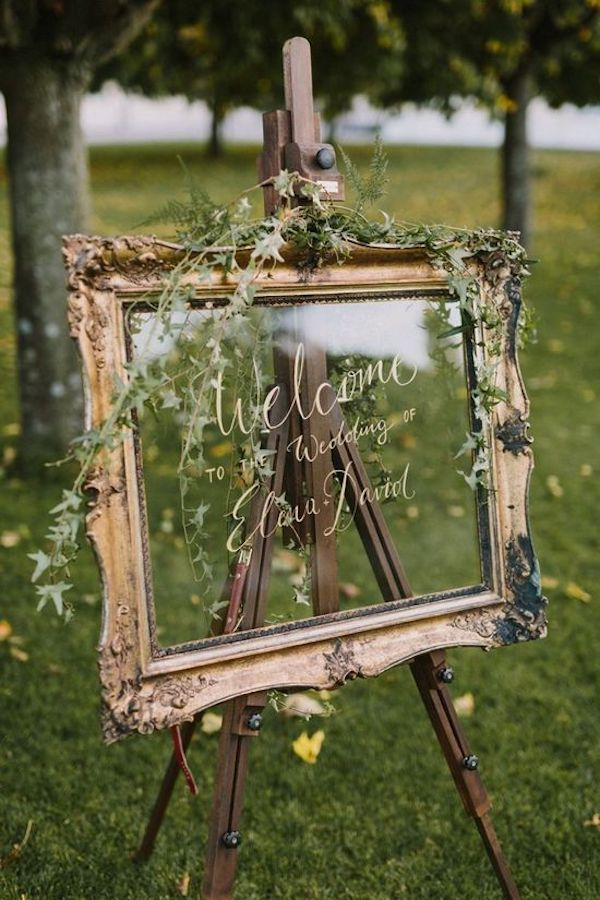 deco ceremonie laique cadre verre wedding mariage