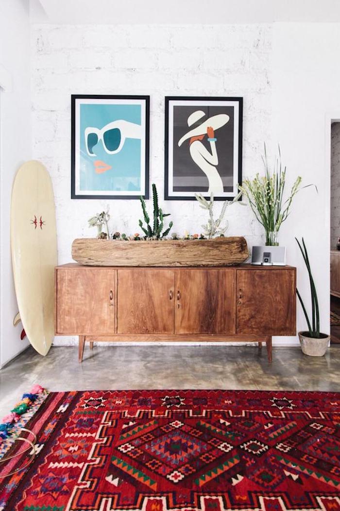 deco maison californienne tapis berber azteque decoration surf