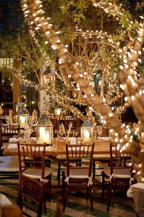 mariage decoration lumineuse arbre guirlande deco ceremonie laique lampions