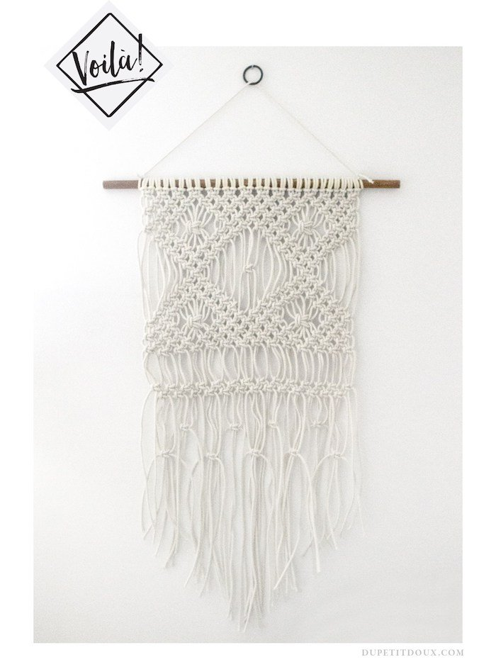 suspension macrame diy fini accrochage decoration