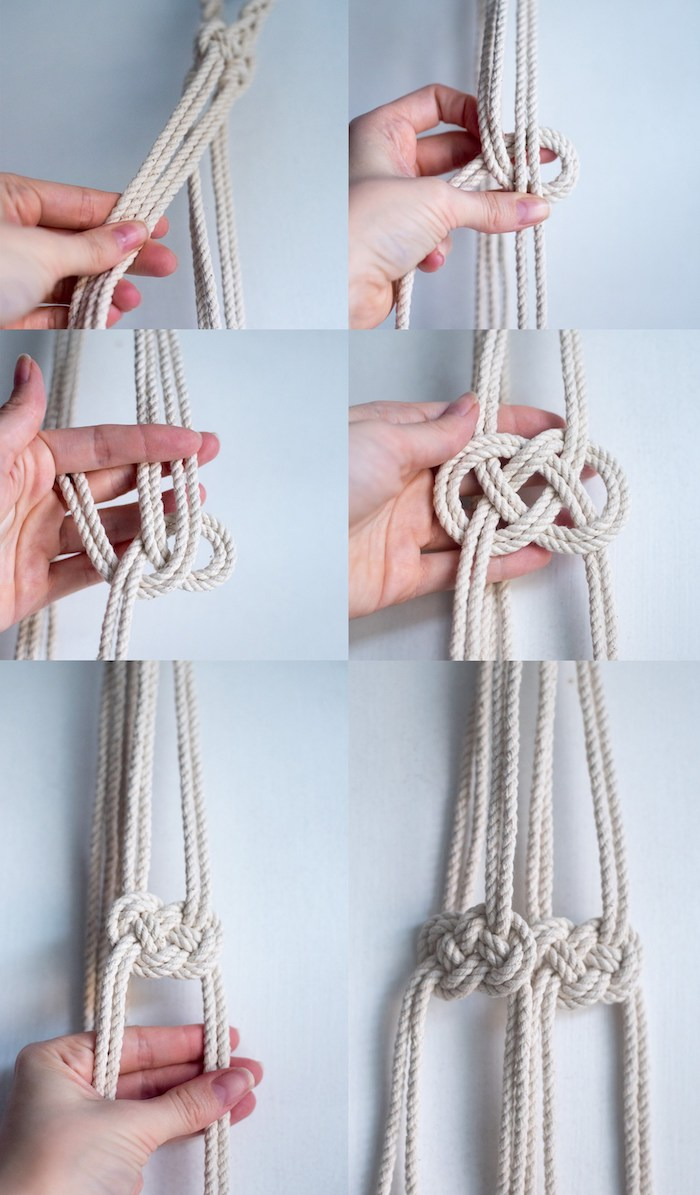 suspension macrame diy hanging planter noeud infini