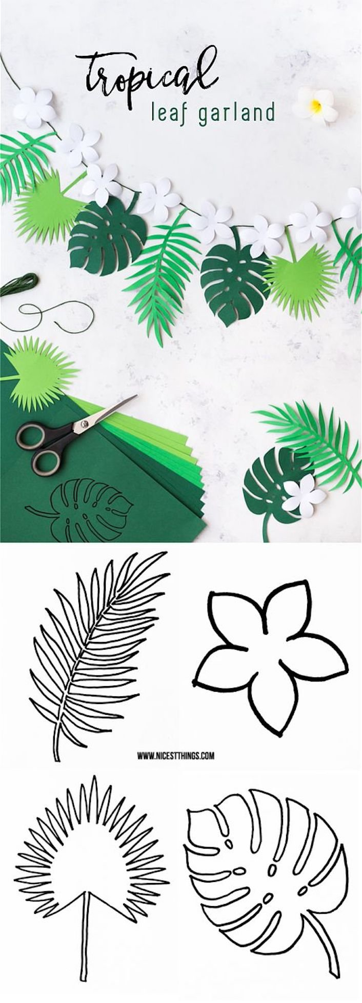 tendance tropicale guirlande papier diy blog deco