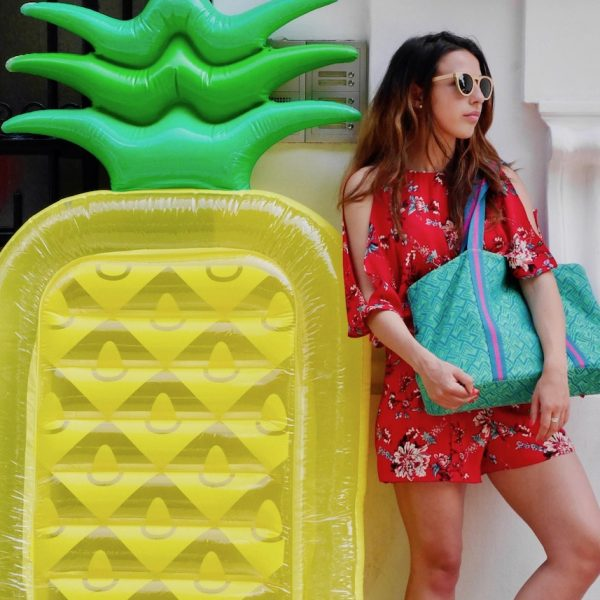le jacquard français bouée ananas rue combinaison rouge mode clemaroundthecorner blog déco plage a paris