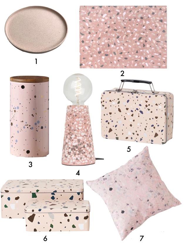 objet décoration pépite pointillé motif rose pour chambre