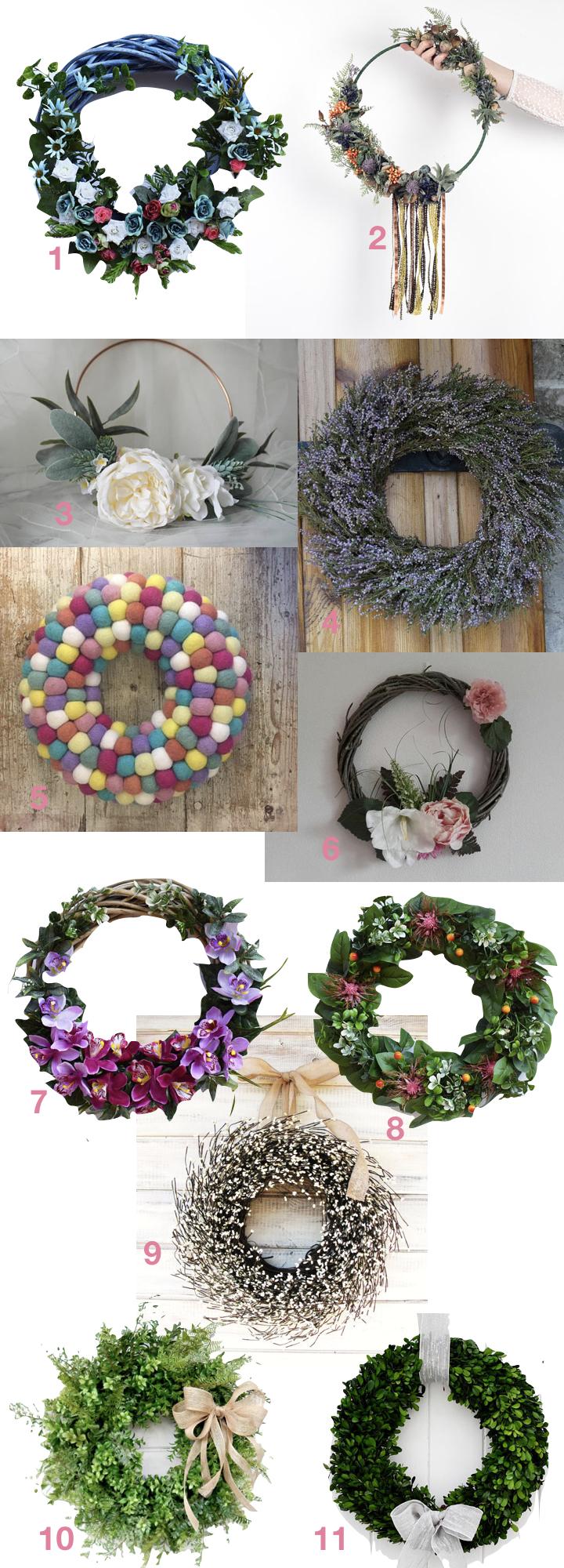 décorer une porte couronne de fleurs blog décoration clem around the corner