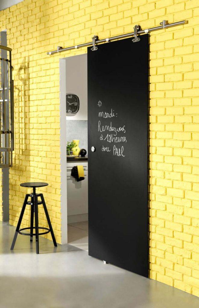 décorer une porte peinture ardoise tableau noir blog déco clem around the corner