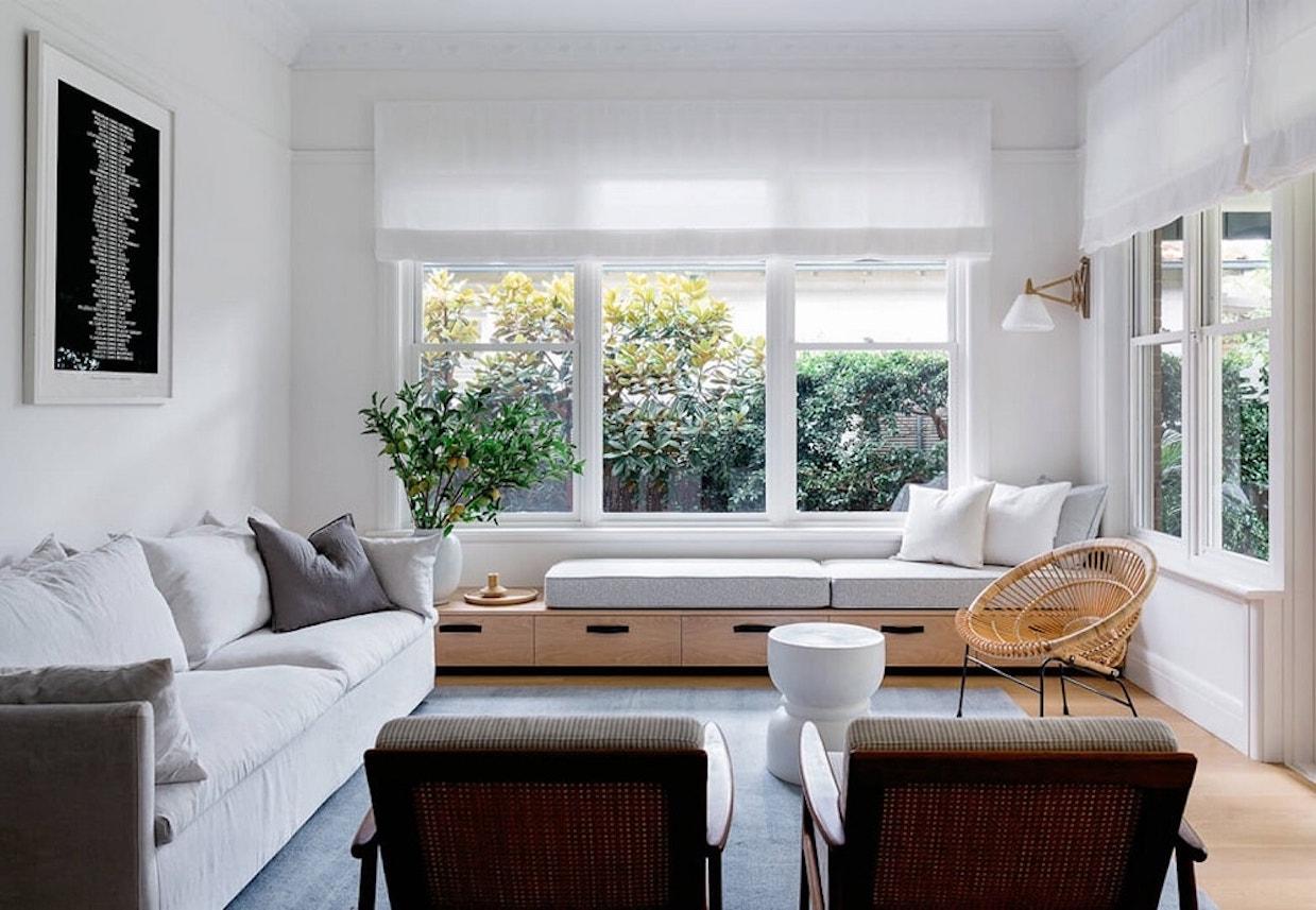 bungalow californien scandinave chic salon design gris clem around the corner