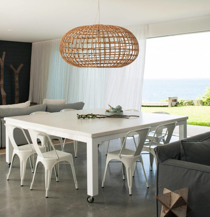 beach house grande table industrielle roulettes blog deco clem around the corner