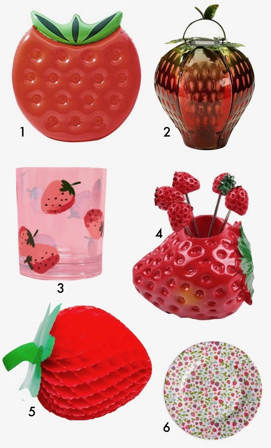vaisselle deco fraise jardin blog déco clem around the corner