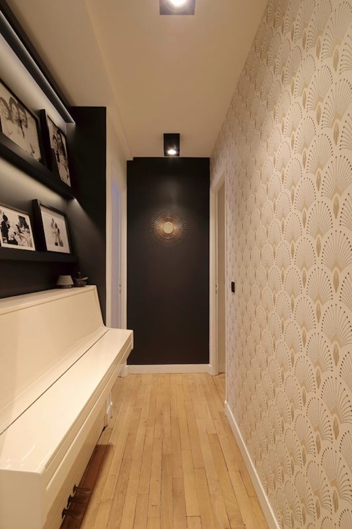 couloir appartement chic art deco blog decoration mur clair