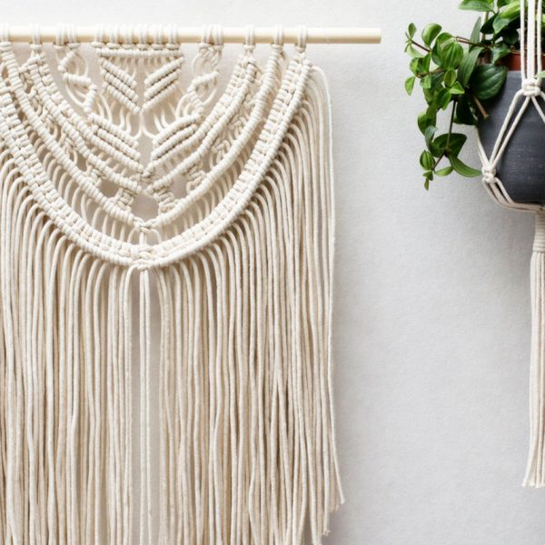 suspension macrame diy accroche pot fleurs suspendu corde deco murale