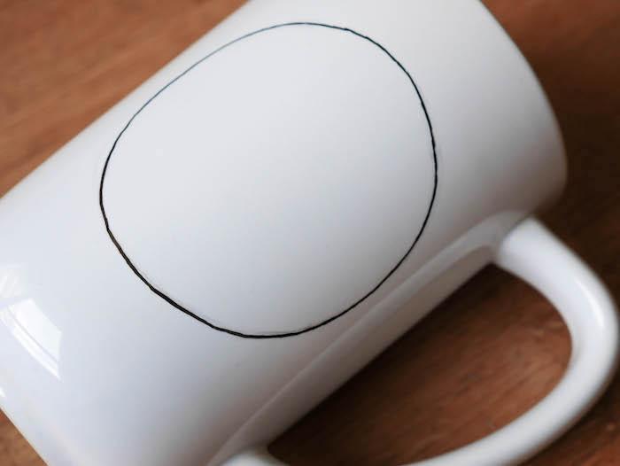 activite facile maitresse diy enfant mug personnalise rond preparation noir