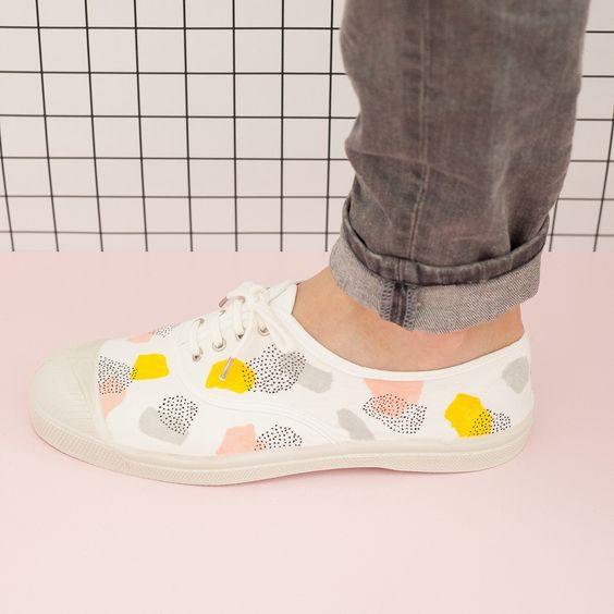 comment customiser ses chaussures bensimon diy