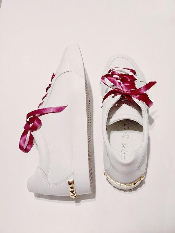 comment customiser ses chaussures diy ruban clou