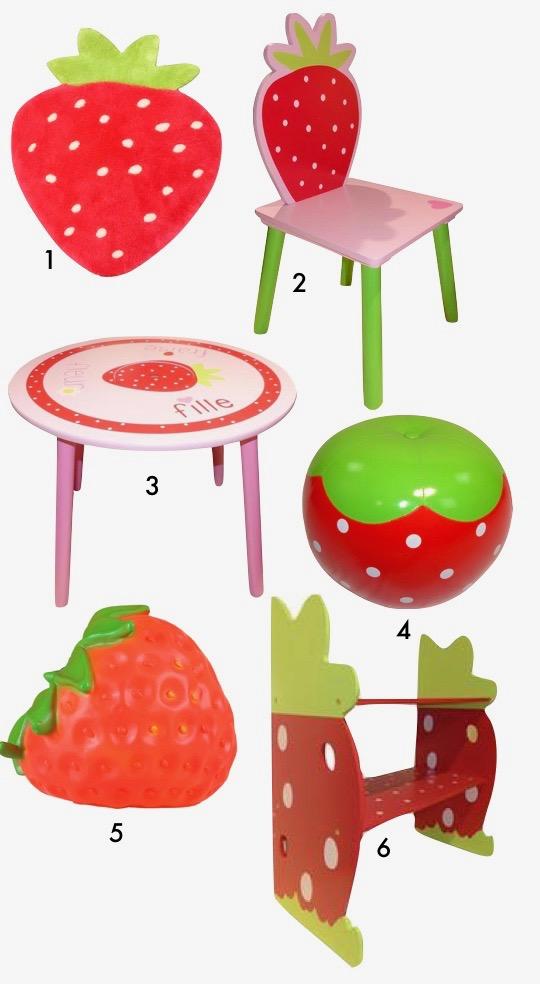 déco fraise meuble enfant chambre petite fille blog déco clem around the corner