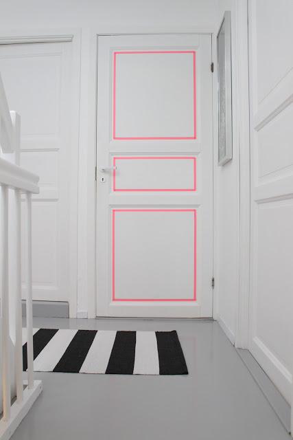 décorer une porte masking tape scotch colore couleur blog deco