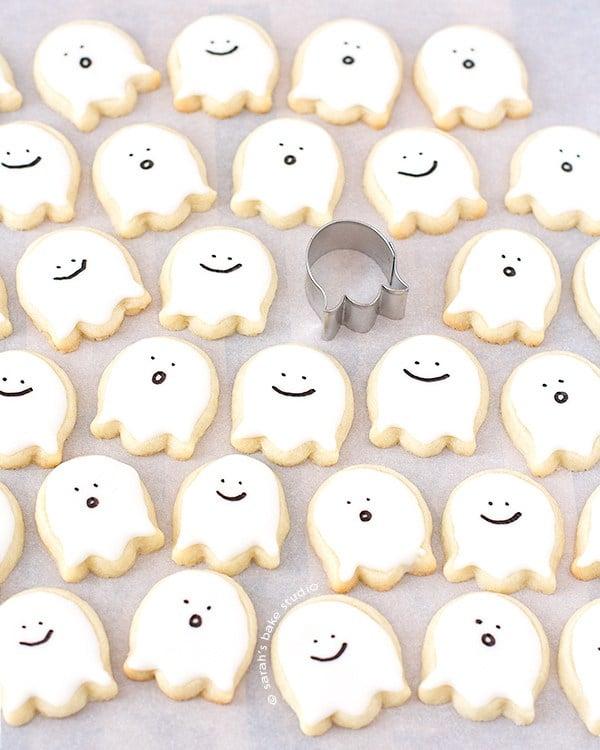 idée diy Halloween thème fantôme biscuit clemaroundthecorner