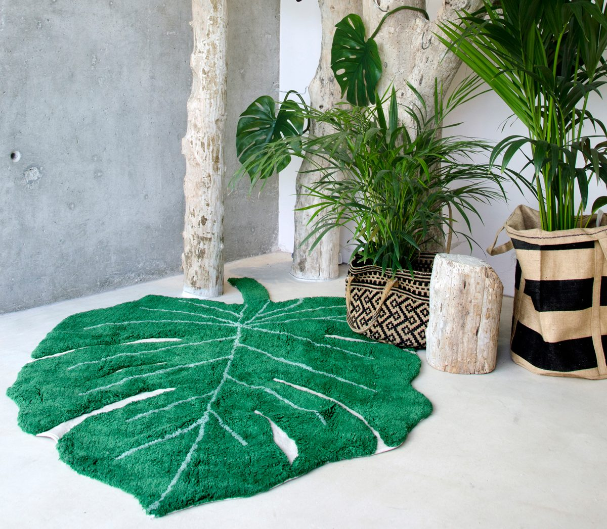 tapis feuille monstera avis Lorena Canals