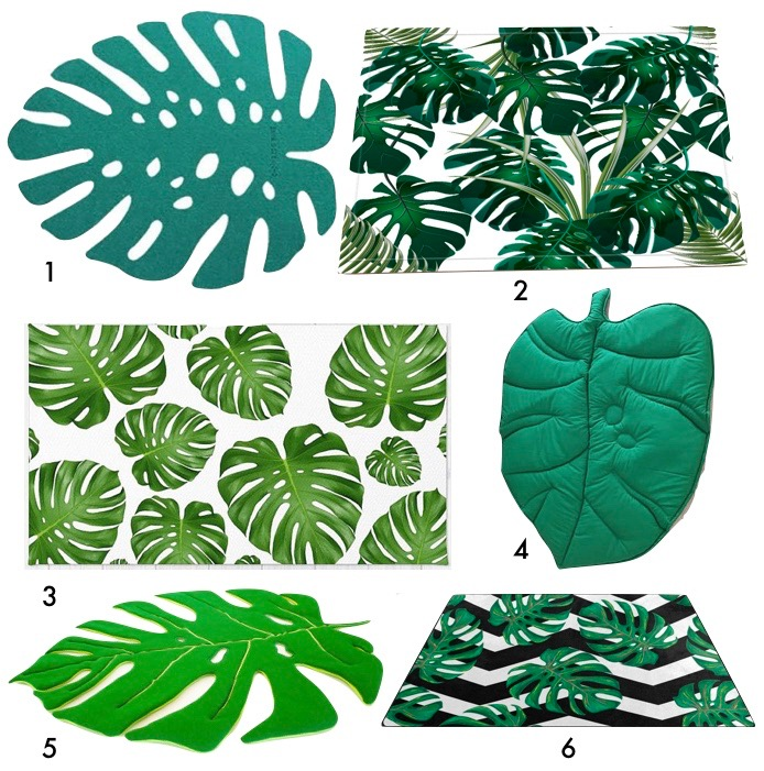 tapis feuille monstera chambre enfant bébé blog déco clem around the corner