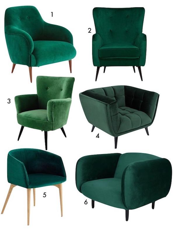 vert canard shopping list fauteuil vert velours decoration blog deco
