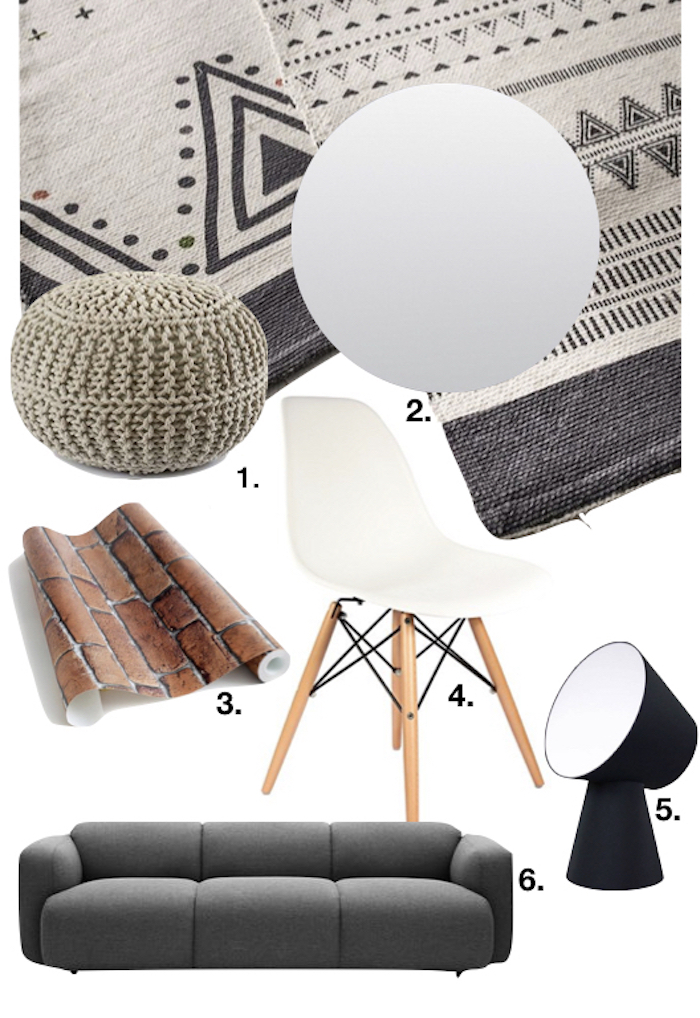 appartement style loft shopping list