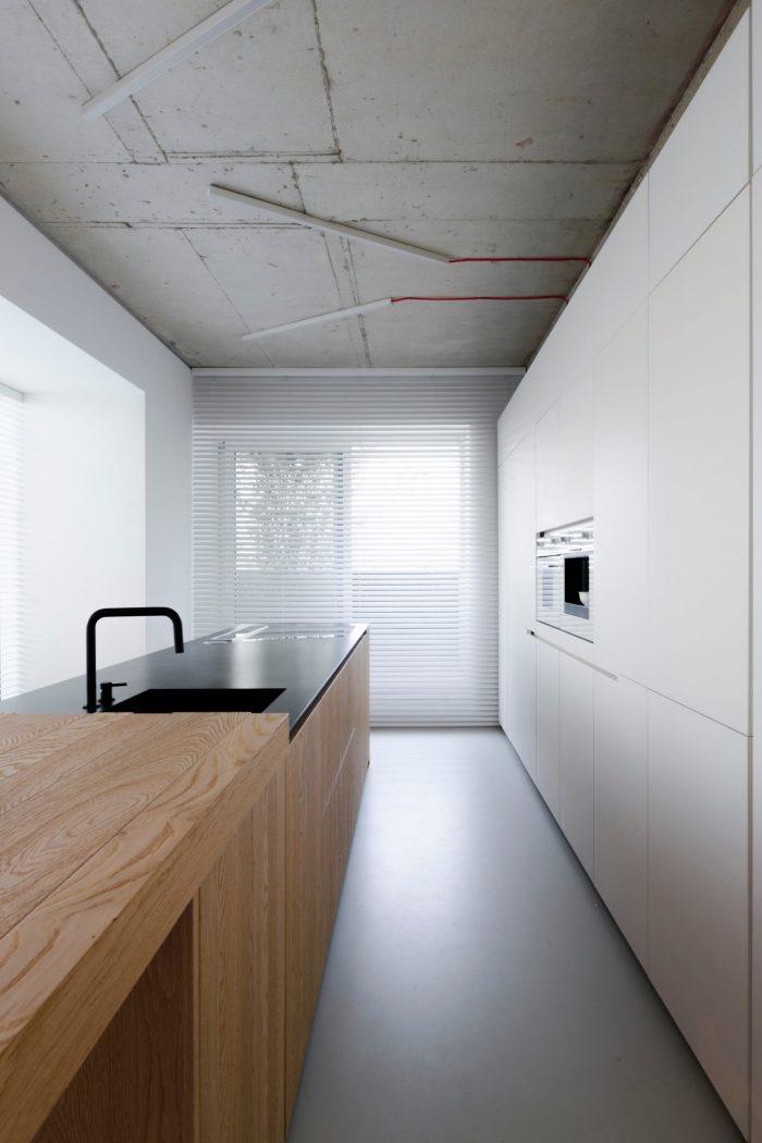 appartement esprit loft cuisine