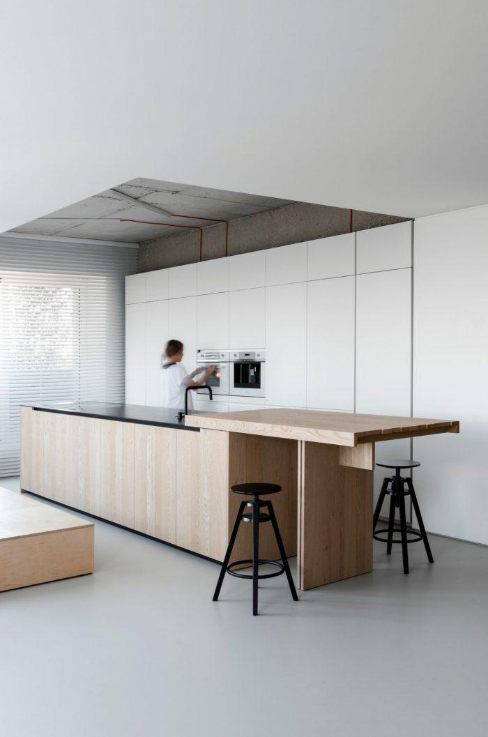 appartement esprit loft cuisine four