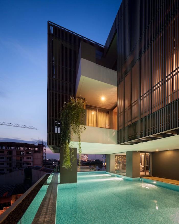 appartements à bangkok piscine parties communes