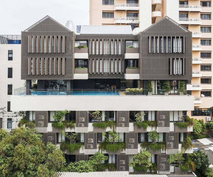 appartements à bangkok piscine bâtiment