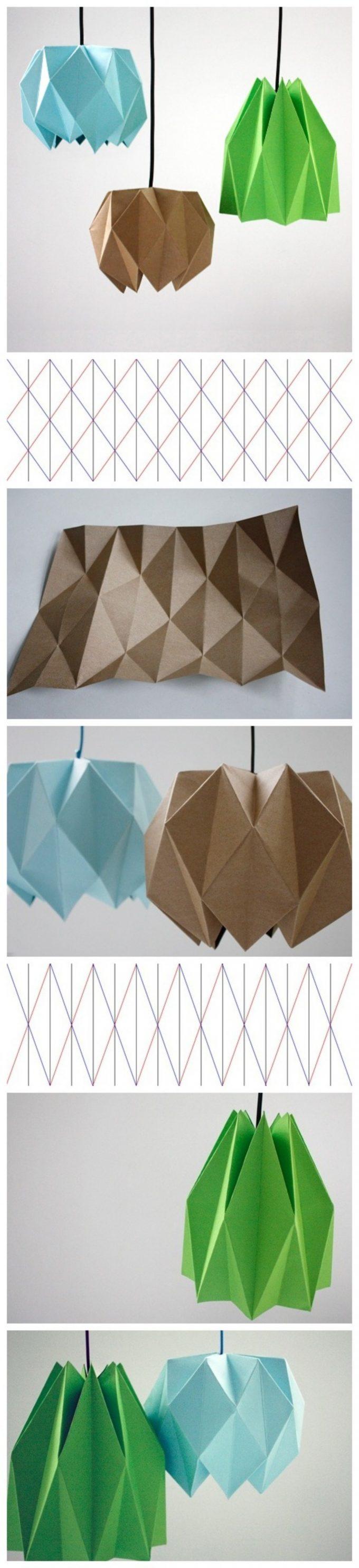tuto lampe origami diy patron blog deco clemaroundthecorner