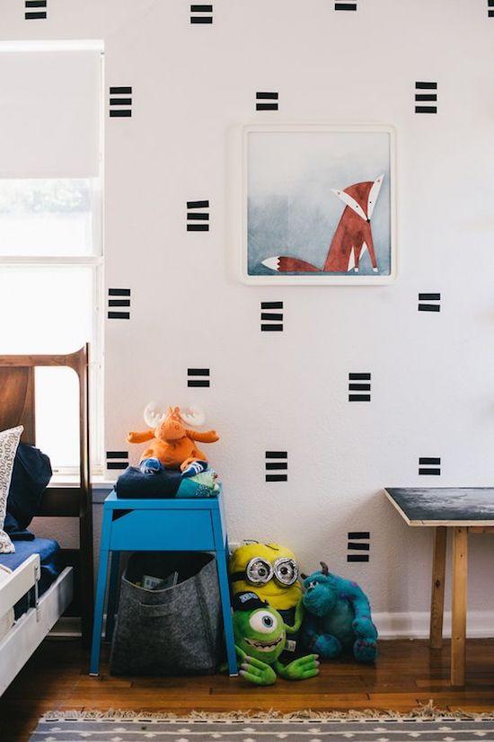 que faire avec du masking tape motif chambre enfant