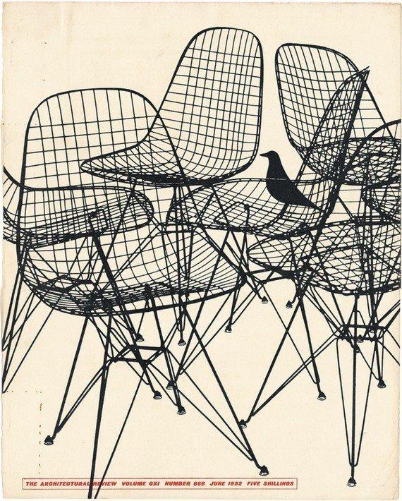 House bird oiseau eames 1951 Chaise Wire DKR Vitra - Blog déco design Clemaroundthecorner