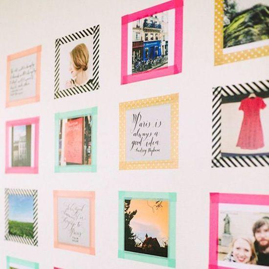 que faire avec du masking tape petit cadres photo phrases décoration