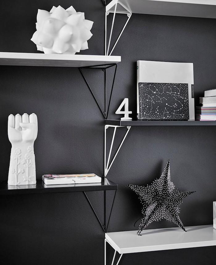 maze interior noir et blanc pythagoras etagere