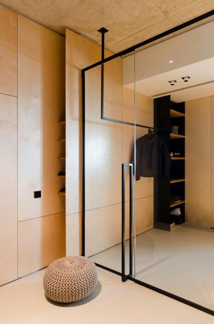 appartement esprit loft miroir dressing