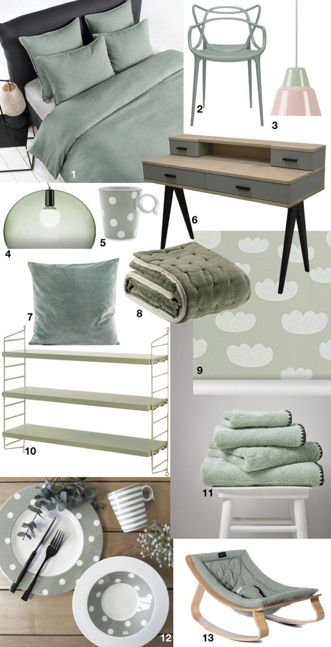 meuble couleur nuance de vert sauge blog déco ClemAroundTheCorner